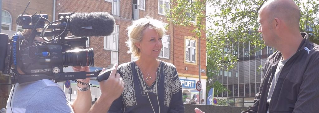 Interview voor Deense nationale TV