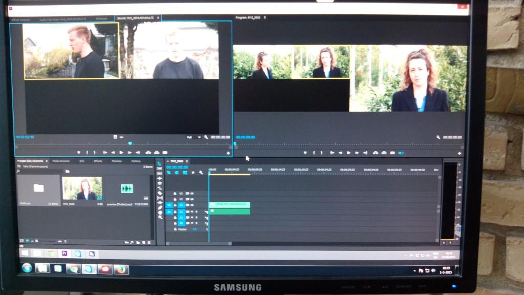 Bezig met editen van een nieuwe promo van de 'Luke 10 training school'